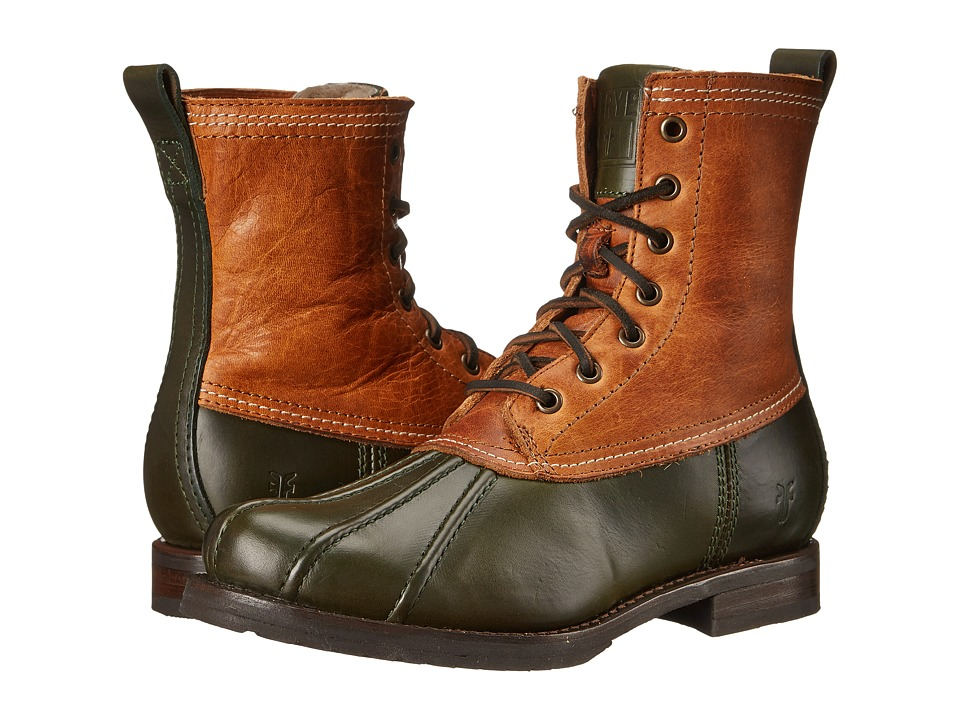 Frye - Veronica Duck Boot (Forest Multi Smooth Pull Up/Oiled Vintage) Women