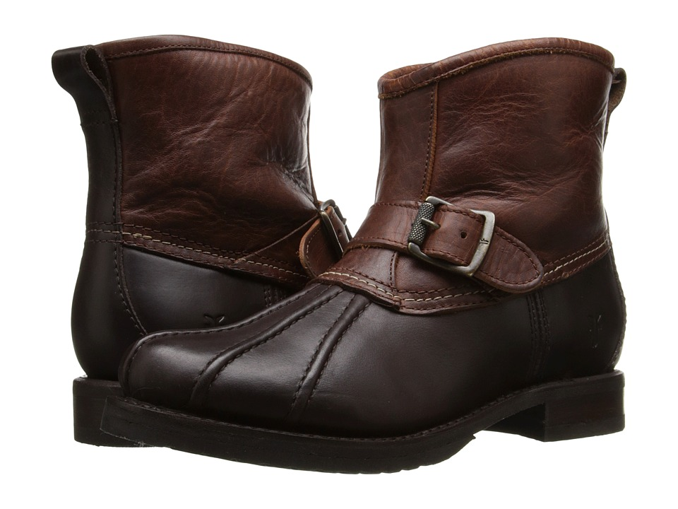 Frye Veronica Duck Engineer Espresso Multi Smooth Pull Up/Oiled Vintage Womens Pull on Boots