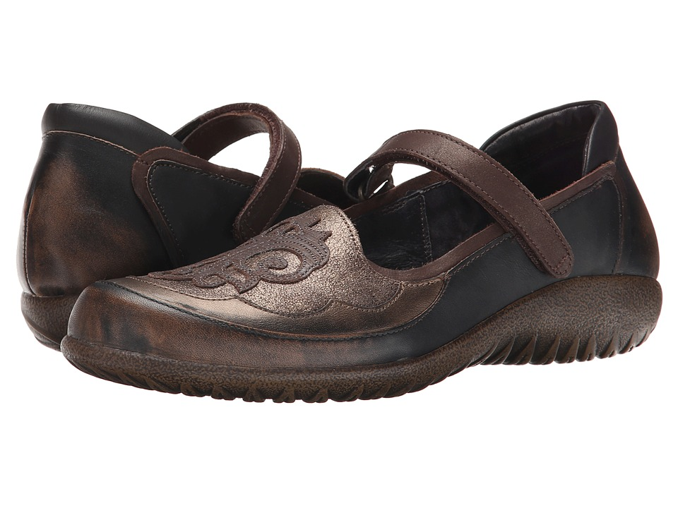 Naot Footwear Motu (Volcanic Brown/Bronze Suede/Grecian Gold/Mine Brown/Brown Nubuck) Women