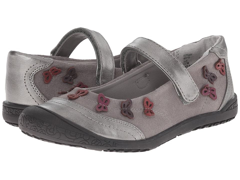 Jumping Jacks Kids Autumn Balleto Toddler/Little Kid Pewter Suede/Pewter/Pewter Metallic/Multi Girls Shoes