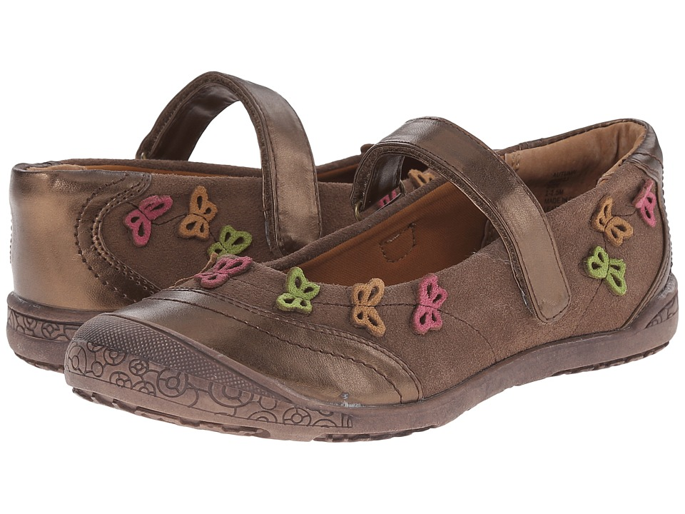 Jumping Jacks Kids Autumn Balleto Toddler/Little Kid Coco Brown Suede/Brown Metallic/Multi Girls Shoes