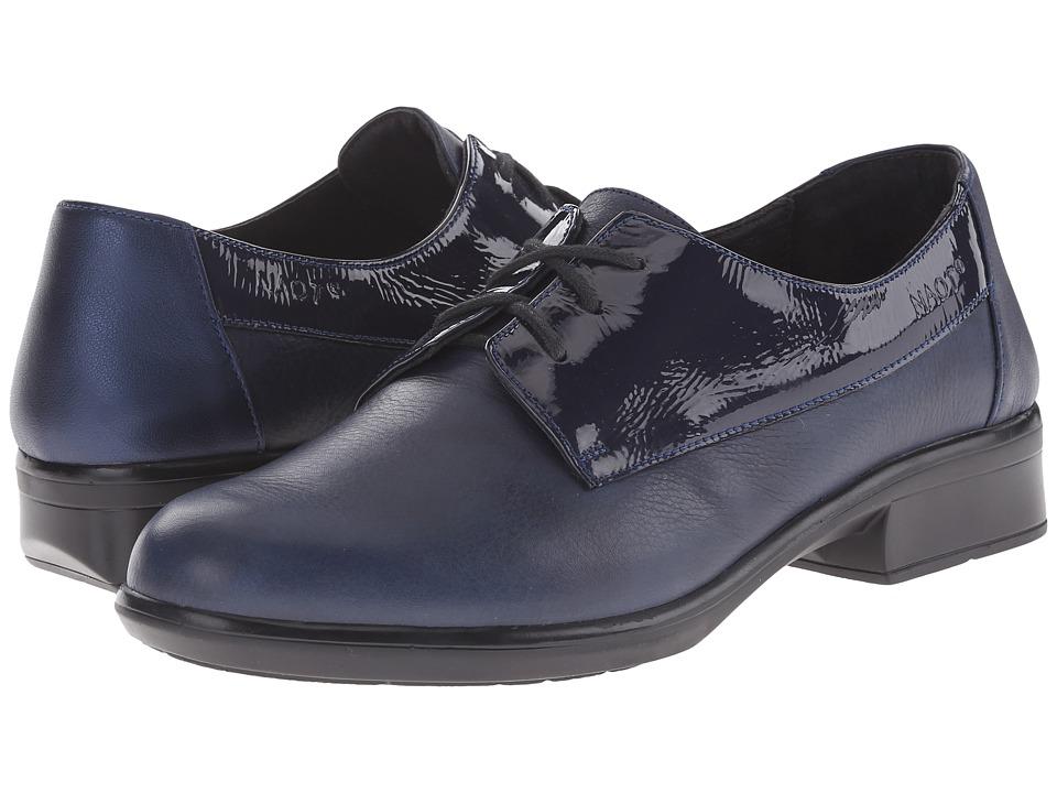 Naot Footwear - Kedma (Navy Patent Leather/Ink Leather/Polar Sea Leather) Women