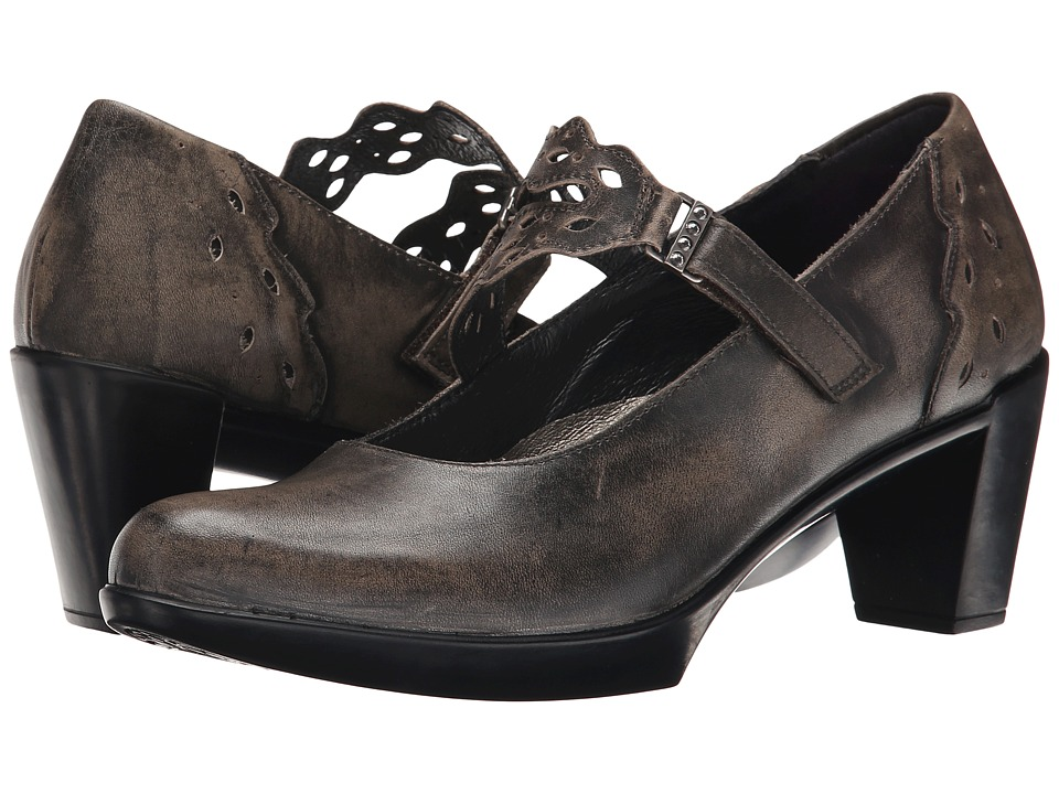 Naot Footwear Amato Vintage Gray Leather Womens Shoes