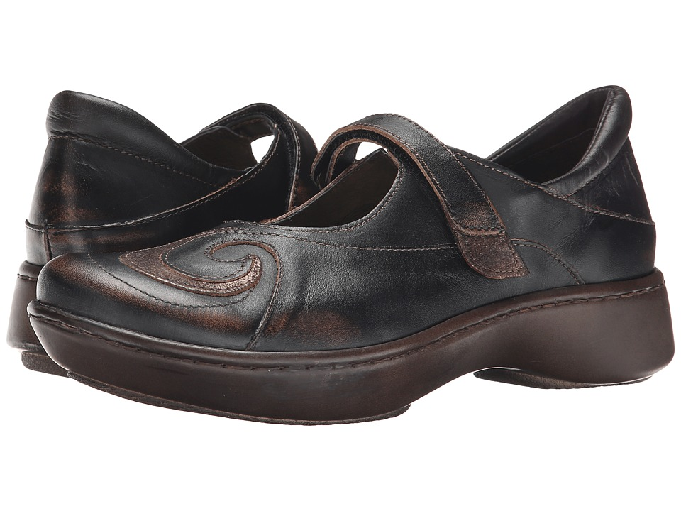 Naot Footwear Sea (Volcanic Brown Leather/Bronze Shimmer Leather) Women's Shoes