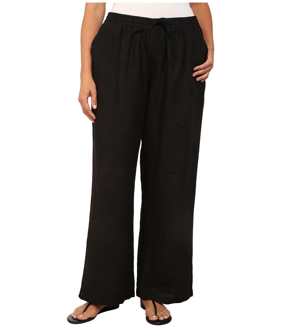 Allen Allen Plus Size Beach Pants Black Womens Dress Pants