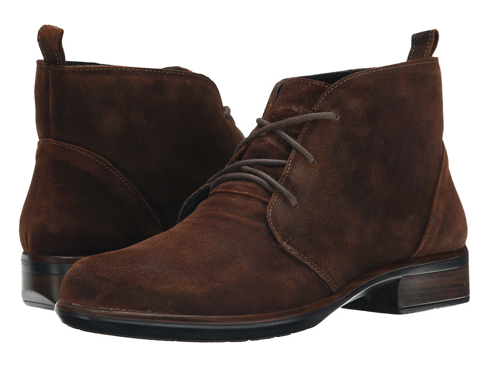 Naot Footwear Levanto Seal Brown Suede Womens Boots