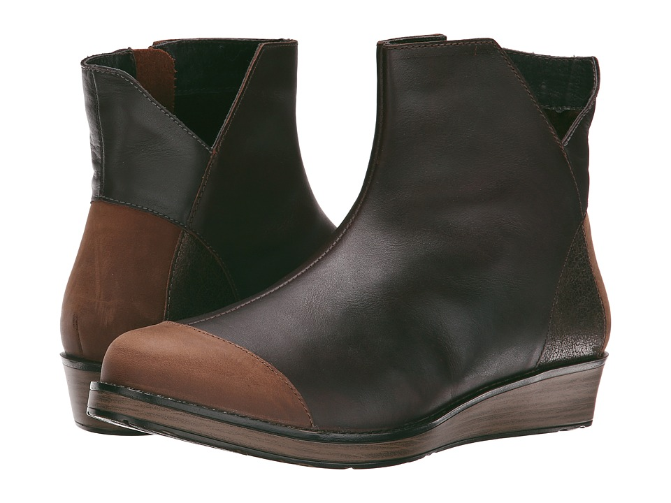 Naot Footwear Loyal Buffalo Leather/Gray/Bronze Suede/French Roast Leather Womens Boots