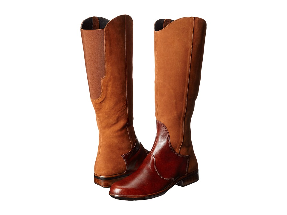 Naot Footwear Shamal (Hawaiian Brown Nubuck/Luggage Brown Leather) Women