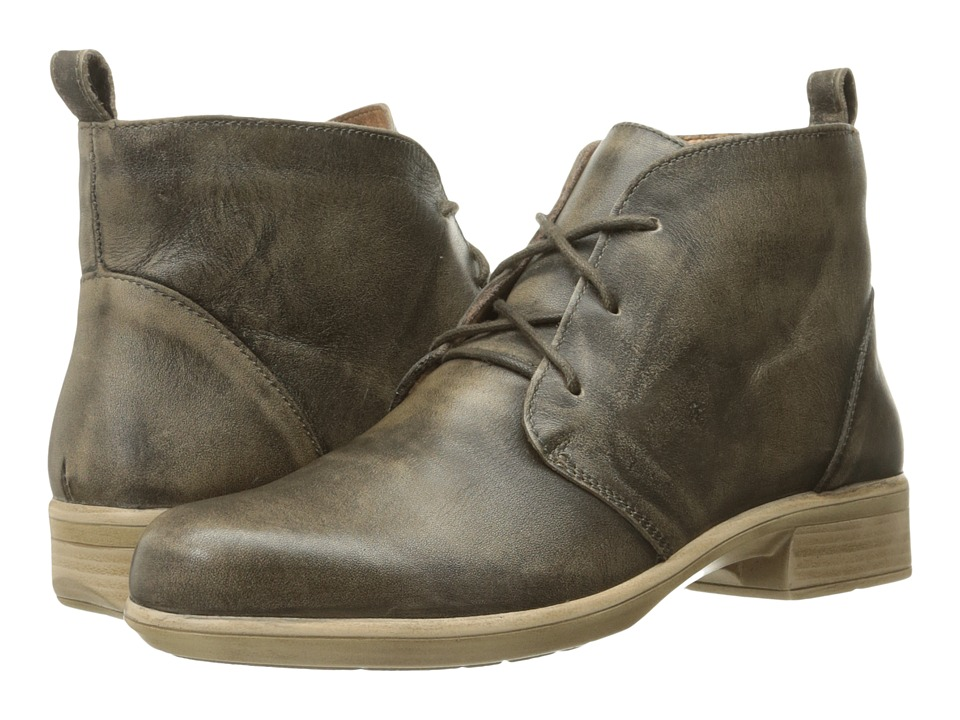 Naot Footwear Levanto Vintage Gray Leather Womens Boots