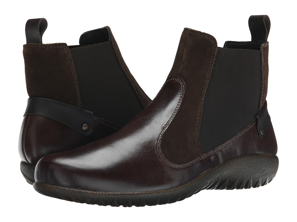 Naot Footwear - Konini (Walnut Leather/Hash Suede/French Roast Leather) Women