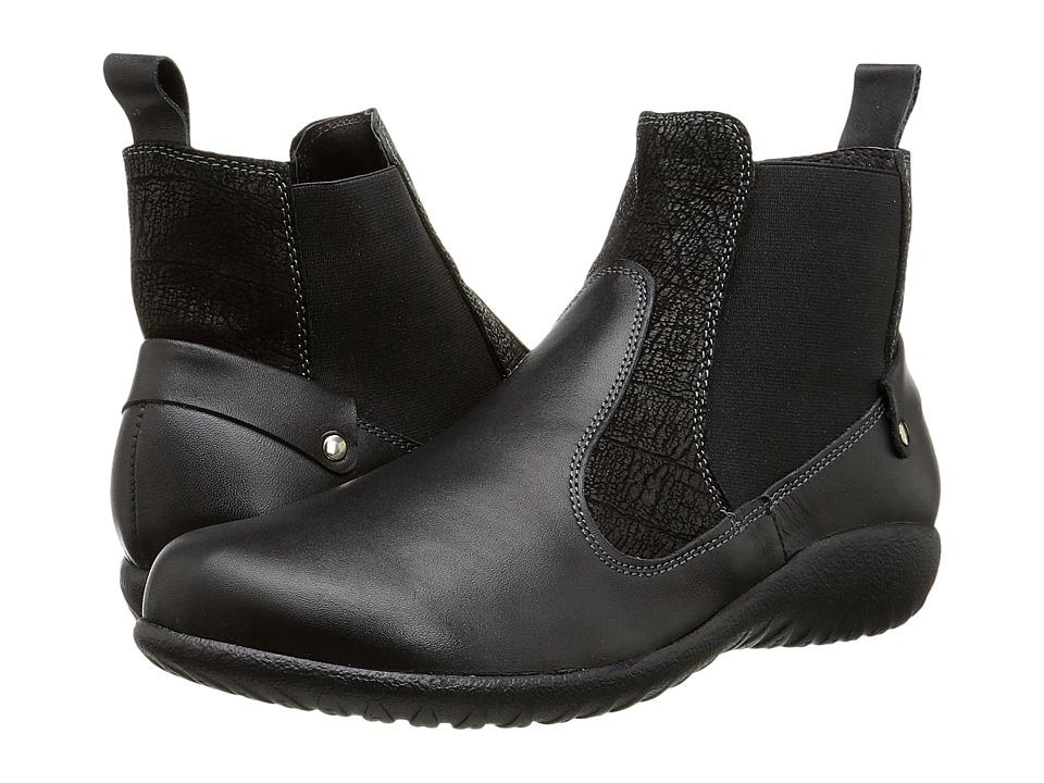 Naot Footwear Konini (Black Raven Leather/Black Crackle Leather/Black Raven Leather) Women