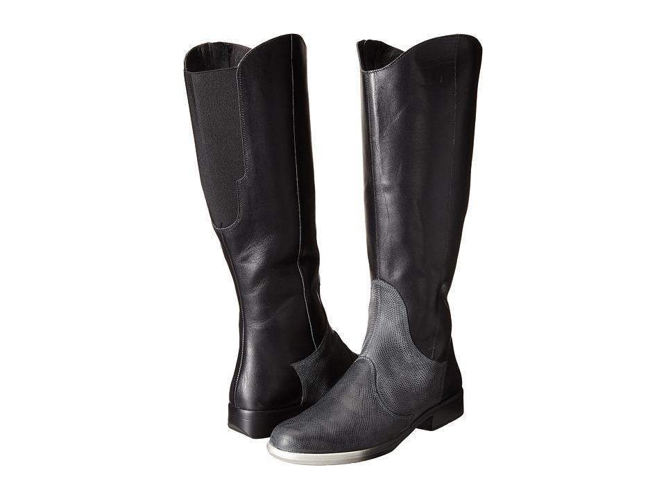 Naot Footwear Shamal (Black Raven Leather/Reptile Gray Leather) Women
