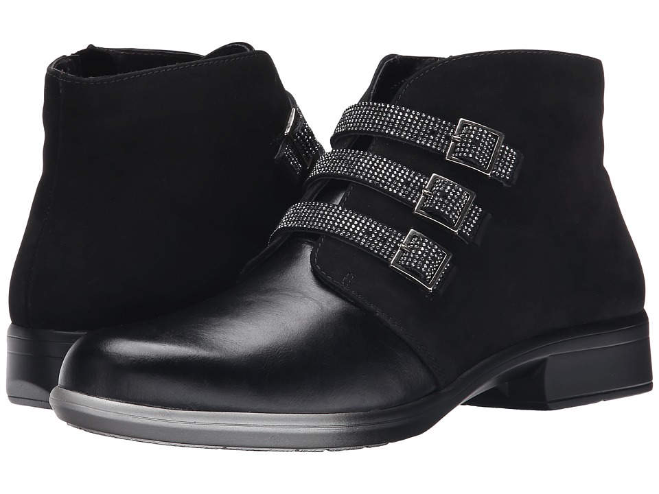 Naot Footwear Vardar (Black Madras Leather/Black Velvet Nubuck) Women