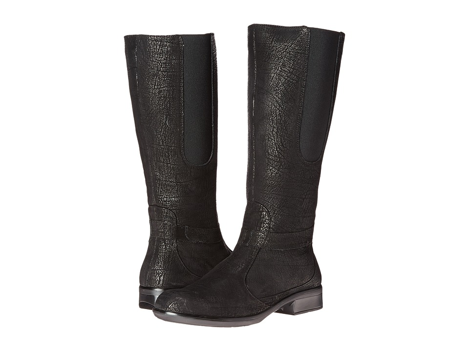 Naot Footwear Viento Black Crackle Leather Womens Boots