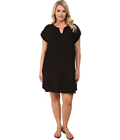 Allen Allen - Plus Size Split Neck Dress
