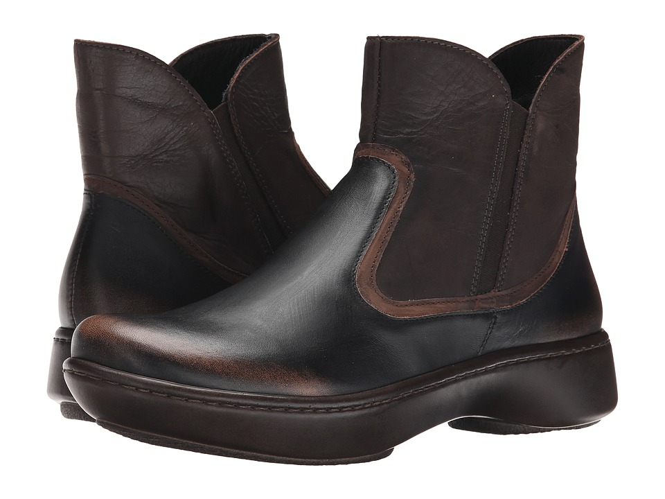 Naot Footwear - Surge (Volcanic Brown/Dark Sienna Leather/Crazy Horse Leather) Women