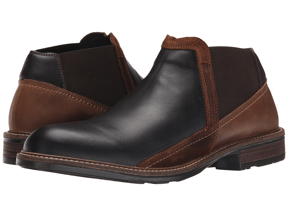 Naot Footwear Business French Roast Leather/Saddle Brown Leather/Seal Brown Suede Mens Shoes