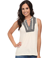 Lucky Brand - Cross Stitch Bib Tank Top