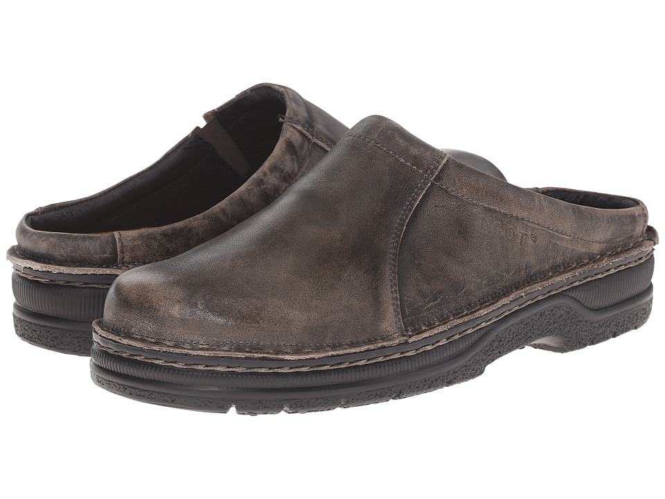 Naot Bjorn (Vintage Gray Leather) Men's Slip on  Shoes