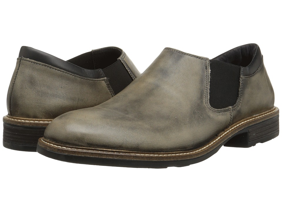 Naot Footwear - Director (Vintage Gray Leather/Jet Black Leather) Men