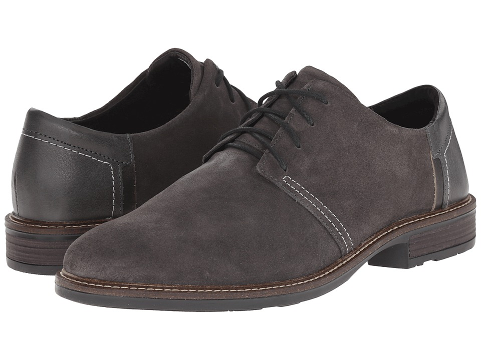 Naot Footwear - Chief (Gray Suede/Tin Gray Leather/Vintage Gray Leather) Men