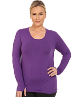 Terramar - Plus Size Cloudnine Performance Long Sleeve Scoop W8214W