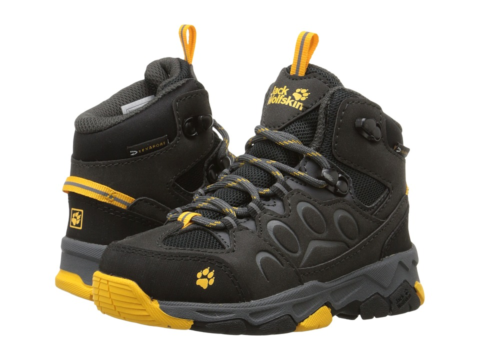 Jack Wolfskin Kids Mountain Attack 2 Waterproof Mid Toddler/Little Kid/Big Kid Burly Yellow Kids Shoes