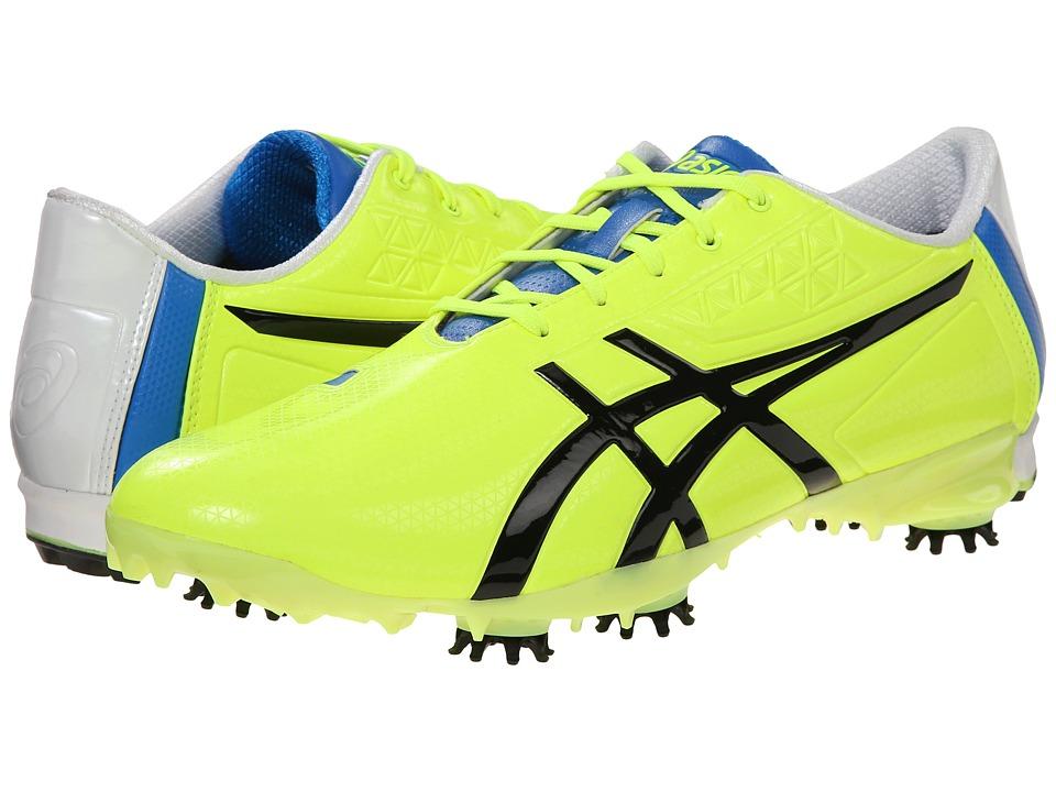 ASICS Gel Ace Pro Light Flash Yellow/Black/Blue Mens Golf Shoes