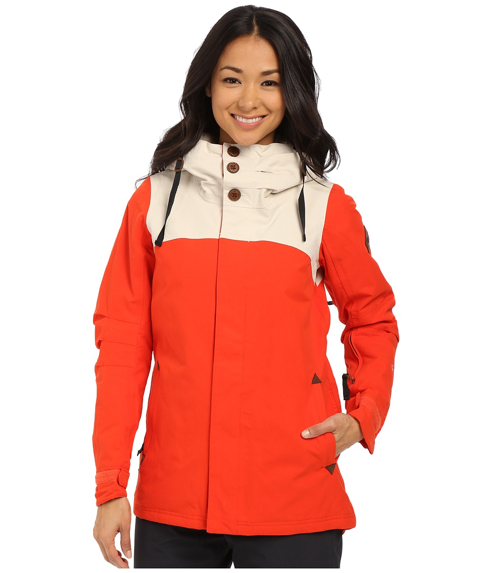 686 Parklan Mystique Insulated Jacket Burnt Orange Ripstop Womens Coat
