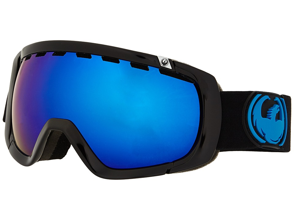 Dragon Alliance Rogue Jet/Dark Smoke Blue/Yellow Red Ionized Snow Goggles
