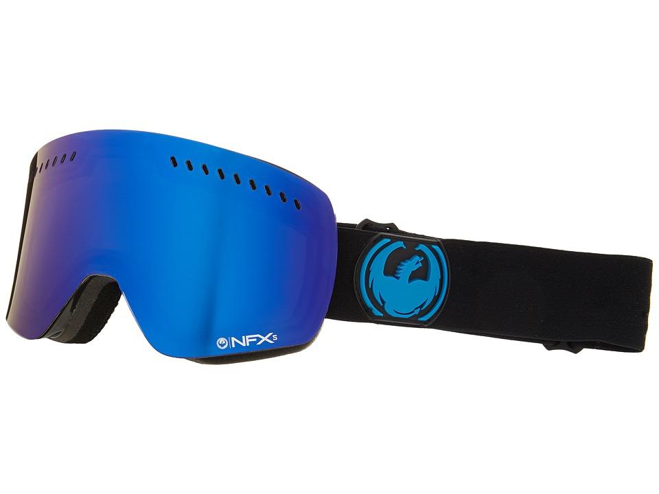 Dragon Alliance NFXs Jet/Dark Smoke Blue/Yellow Red Ionized Sport Sunglasses