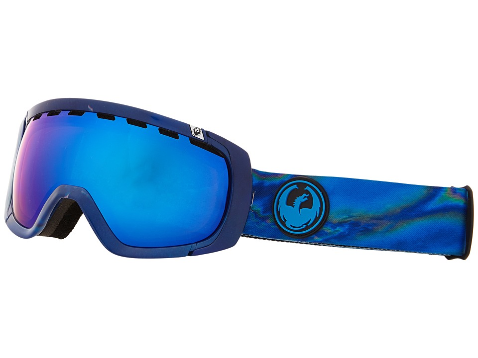 Dragon Alliance Rogue Spill/Blue Steel/Yellow Red Ionized Snow Goggles