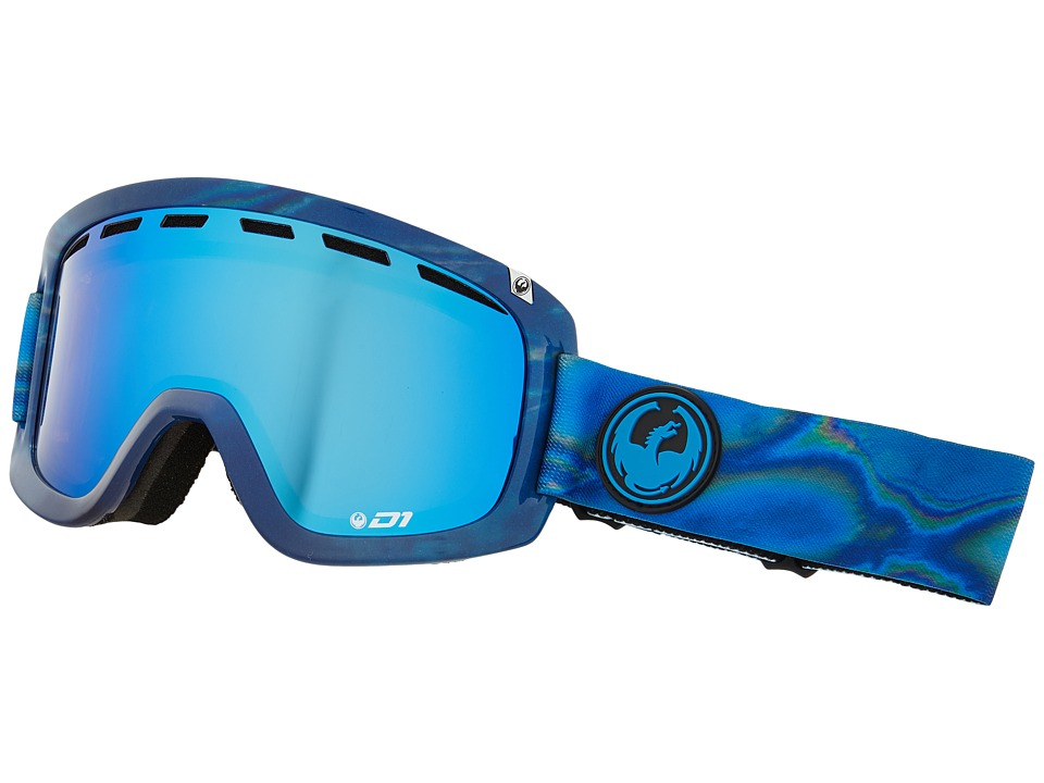 Dragon Alliance D1 Spill/Blue Steel/Yellow Red Ionized Goggles