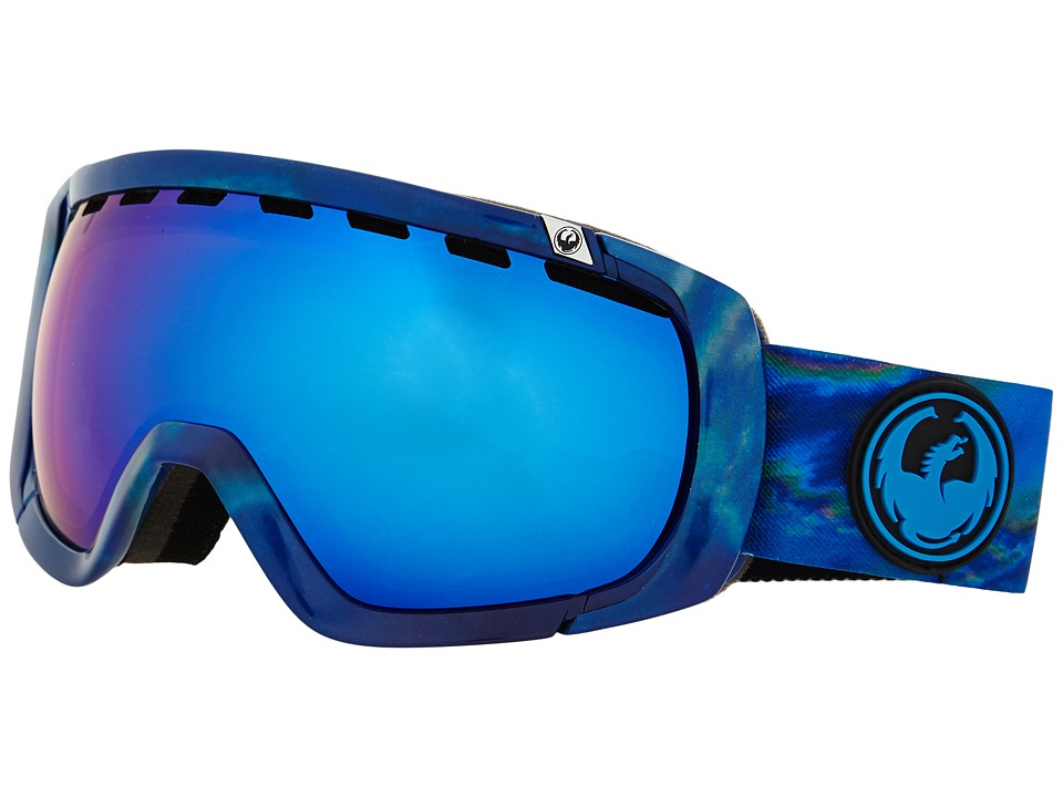 Dragon Alliance Rogue Layer/Dark Smoke Blue/Yellow Red Ionized Snow Goggles