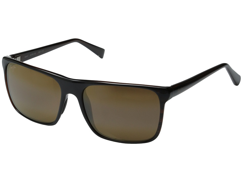 Maui Jim Flat Island Brown Stripe/HCL Bronze Fashion Sunglasses