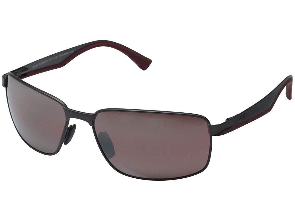 Maui Jim Backswing Satin Dark Gunmetal/Maui Rose Fashion Sunglasses