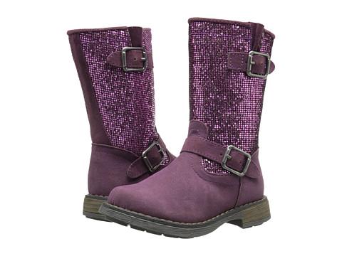 Jumping Jacks Kids Glitter Balleto (Toddler/Little Kid/Big Kid) - Purple Smooth/Purple Glitter