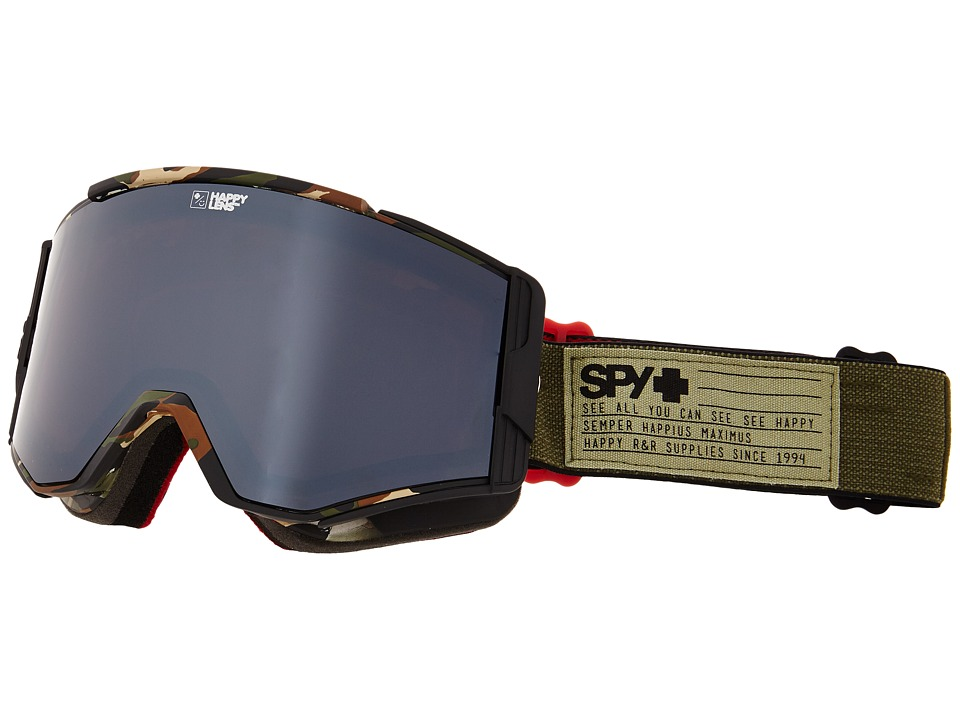 Spy Optic Ace Fatigue/Happy Bronze/Silver Mirror/Happy Persimmon Goggles
