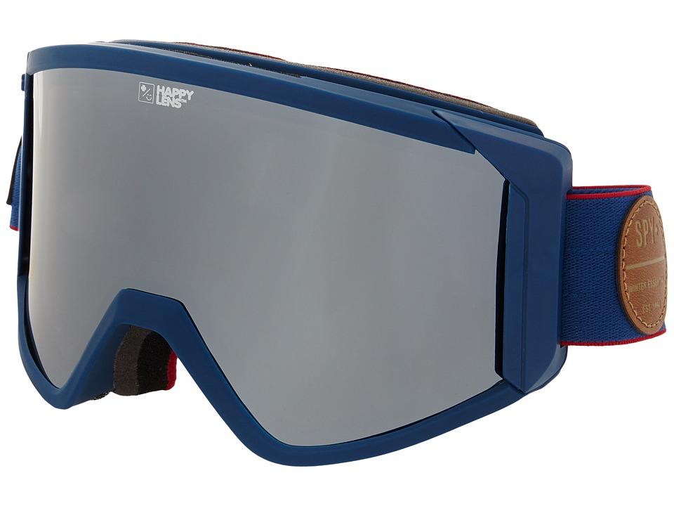 Spy Optic Raider Heritage Navy/Happy Bronze/Silver Mirror/Blue Snow Goggles