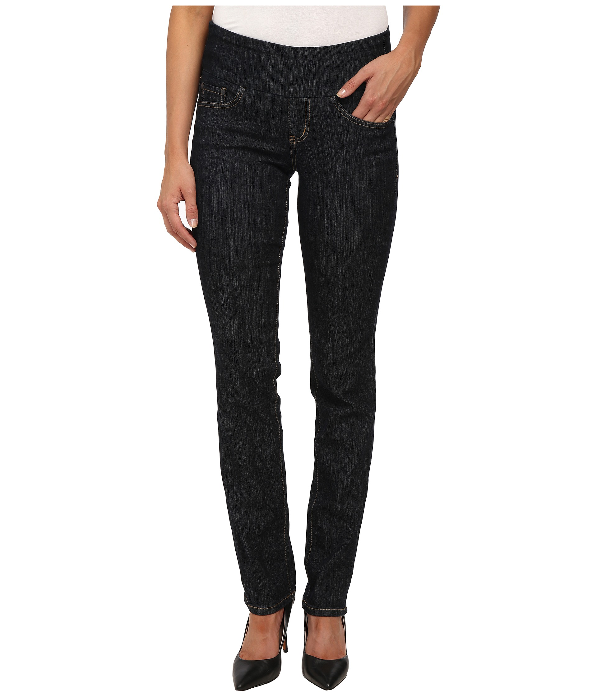 Jag Jeans Peri Pull-On Straight Comfort Denim in Late Night at ...