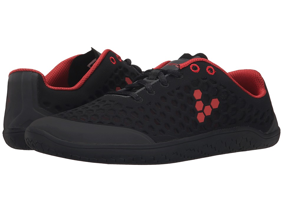 Vivobarefoot - Stealth II (Black/Red) Mens Shoes