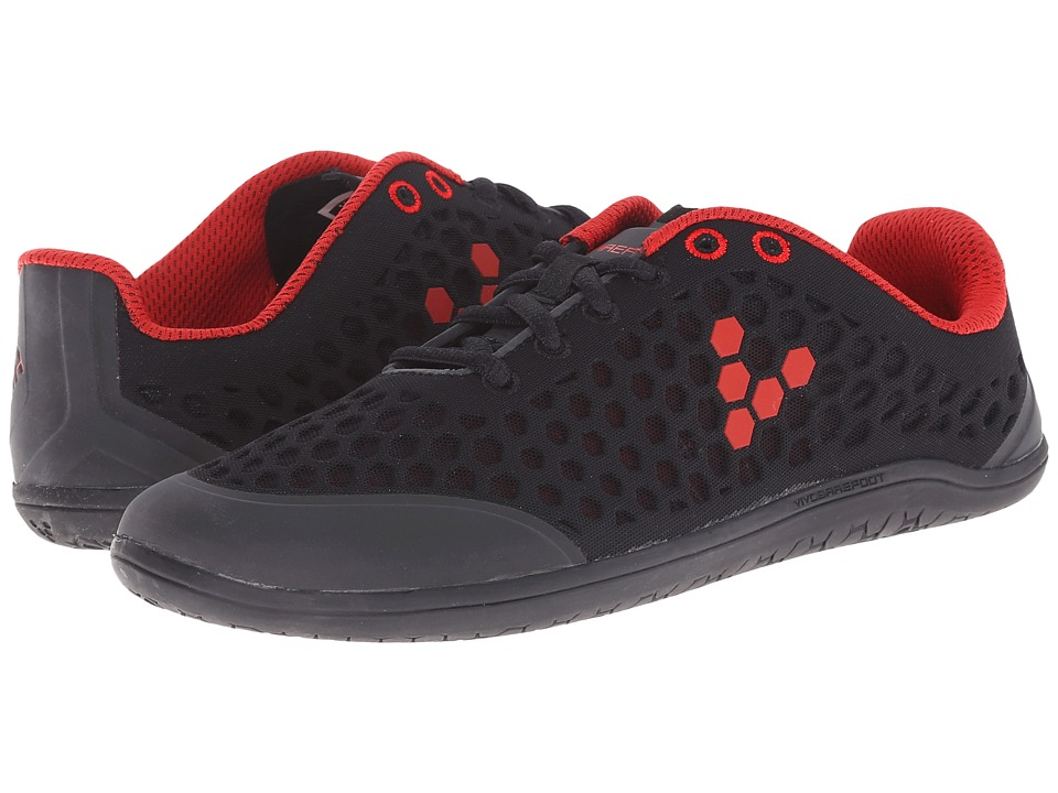 Vivobarefoot Stealth II Black/Red Womens Shoes