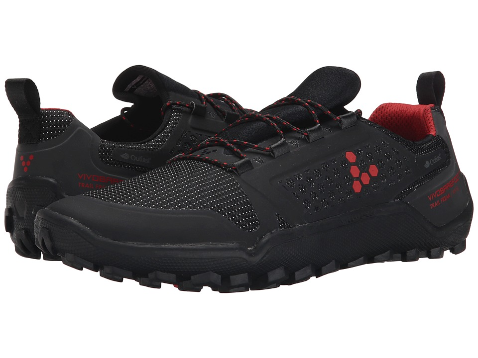 Vivobarefoot Trail Freak II WP Black/Red Mens Shoes