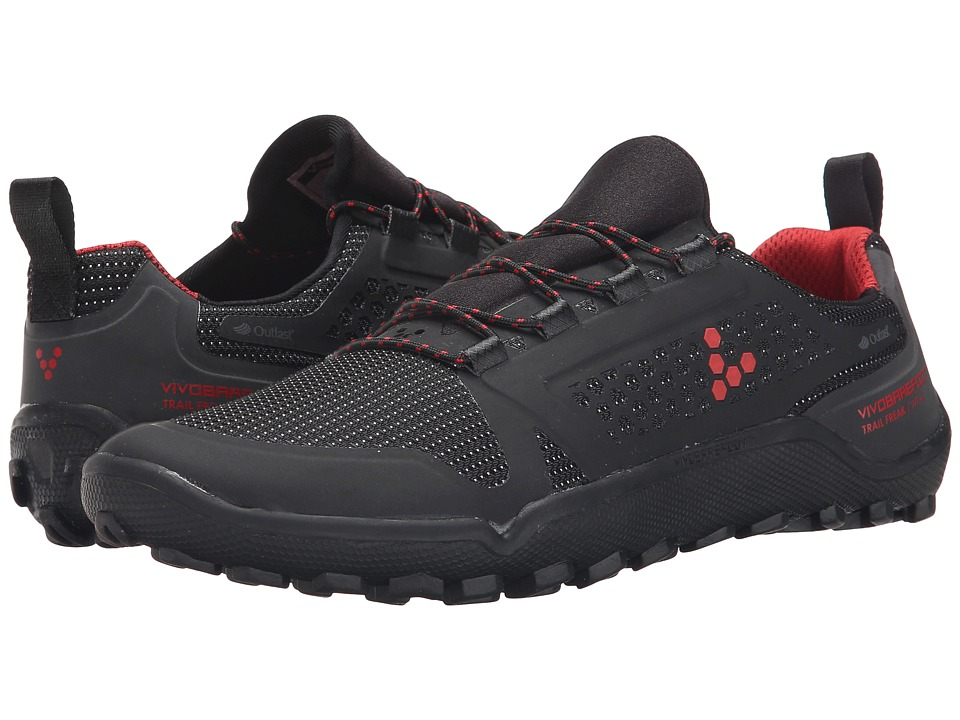 Vivobarefoot Trail Freak II WP Black/Red Womens Shoes