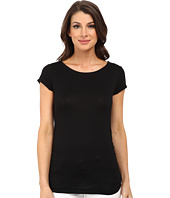 Nally & Millie - Ruched Cap Sleeve Top