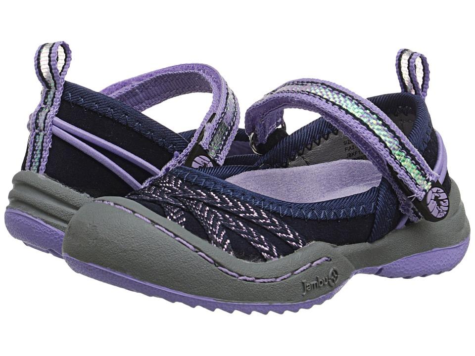 Jambu Kids - Fia 2 (Toddler) (Navy/Lilac) Girls Shoes