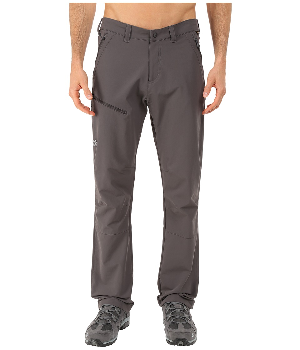 Jack Wolfskin Activate Pants Tall Dark Steel Mens Casual Pants