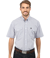 Cinch - Short Sleeve Plain Weave Plaid Double Pocket Shirt