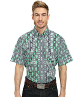 Cinch - Short Sleeve Plain Weave Print Shirt