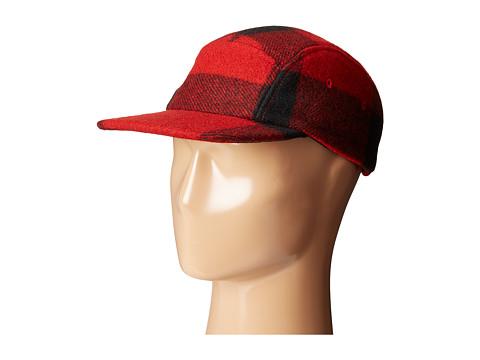 Filson 5-Panel Wool Cap - Red/Black